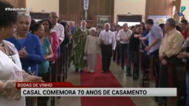 Casal de idosos em SP celebra 70 anos de uni�o