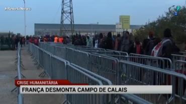 Acampamento de Calais, na Fran�a, come�a a ser desativado