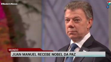 Presidente colombiano, Juan Manuel Santos recebe Nobel da Paz