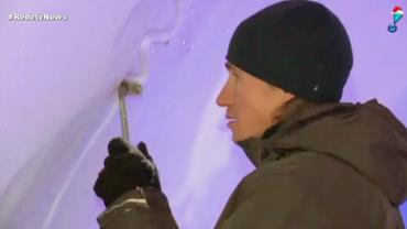 Iglu gigante prepara exposições ao público na Rússia