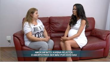 Karina conta sua hist�ria de vida para Daniela Albuquerque