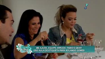 Fabio Arruda ensina etiqueta � mesa e na balada