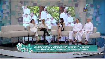 Pais de Tancr�de agradecem solidariedade de an�nimos e famosos