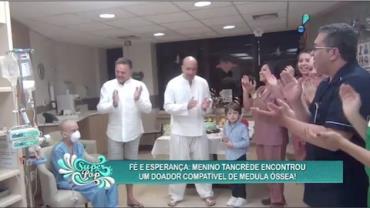 Pais de Tancr�de contam a felicidade ao saber que a medula 'pegou'