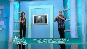 Felipeh Campos n�o abre a porta para Joelma