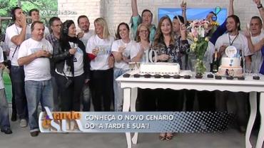 Sonia Abr�o comemora 10 anos de programa com colegas de trabalho (6)