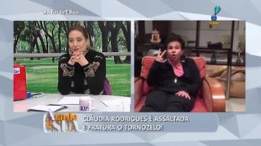 Claudia Rodrigues sofre viol�ncia em Curitiba e adia retorno ao trabalho