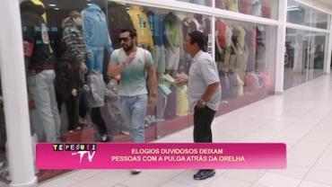 Folgados abusam da paci�ncia das pessoas em shopping