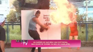 Beijo da mulher mais quente do Brasil pode queimar de verdade