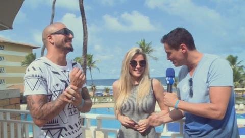 Ex-BBBs Fernando e Aline descartam romance: 'est� tudo muito bem pontuado'