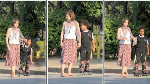 Drica Moraes brinca com filho antes de estrear no lugar de Deborah Secco