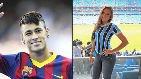 Neymar e Carolina Portaluppi chegam juntos a hotel