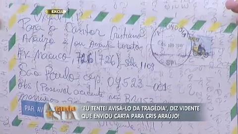 Vidente afirma que tentou avisar Cristiano Ara�jo da trag�dia