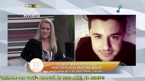 Mulher que diz ter filho de Cristiano Ara�jo fala ao 'A Tarde � Sua'