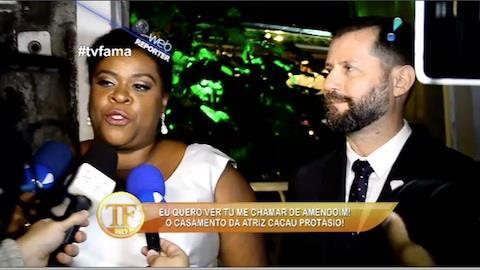 Cacau Prot�sio se casa em cerim�nia cheia de celebridades