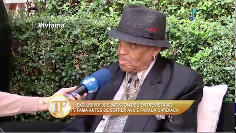 Joseph Jackson deu entrevista exclusiva ao TV Fama antes do AVC