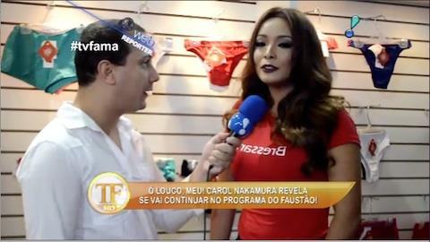 Carol Nakamura revela se vai continuar no programa do Faust�o