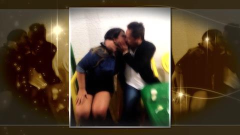 Casado, Leonardo beija morena misteriosa em lanchonete de Minas Gerais