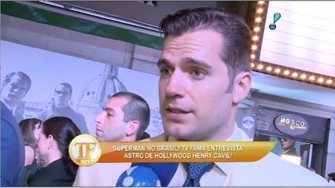 'Superman' est� encantado com os f�s brasileiros