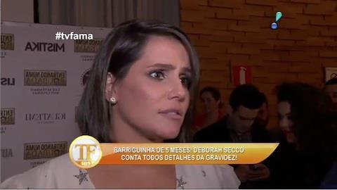 Deborah Secco conta detalhes da gravidez
