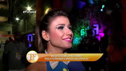 'Quem disse que sertanejo n�o samba?', brinca Paula Fernandes