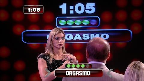 Kelly Key prova que palavra 'orgasmo' daria R$ 1 milh�o a participante