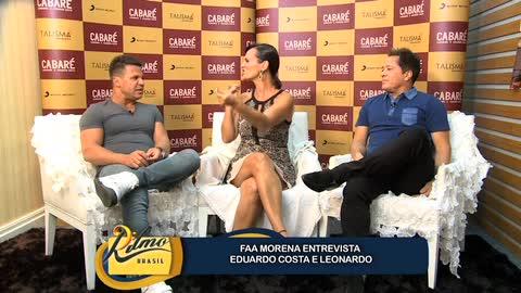 Leonardo e Eduardo Costa falam sobre a emo��o de gravar 1� show juntos