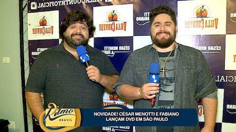 C�sar Menotti & Fabiano recebem o Ritmo Brasil no lan�amento de DVD