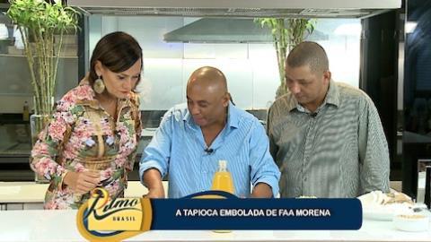 Caju e Castanha ajudam Faa Morena a fazer tapioca