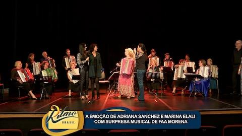 Marina Elali e Adriana Sanchez se emocionam com orquestra sanf�nica (2)