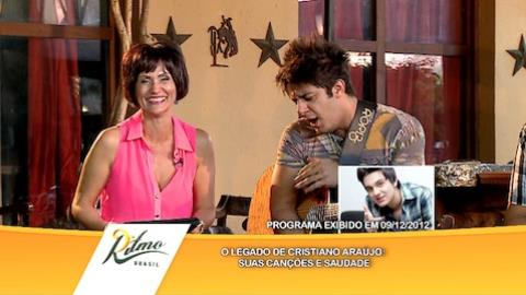 Faa Morena se diverte com as imita��es de Cristiano Ara�jo