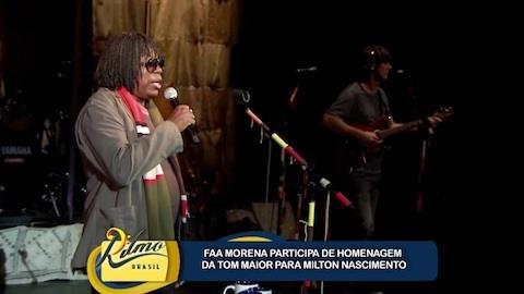 Faa Morena confere festa da Tom Maior em homenagem � Milton Nascimento