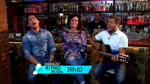 Faa Morena conversa com a dupla Hugo & Tiago