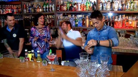 Hugo e Tiago encaram o desafio de preparar um drink sem �lcool