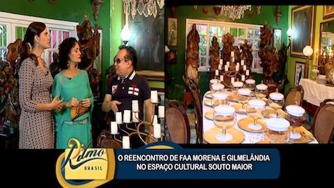 Faa Morena e Gilmel�ndia visitam espa�o cultural em Embu das Artes