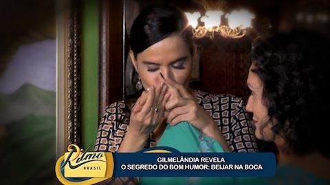 'Beijando eu t�', revela Gilmel�ndia