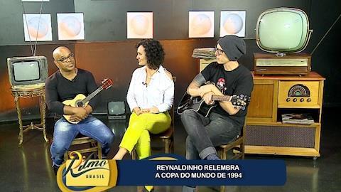 Faa Morena discute a mistura de ax� e pop com Vinny e Reynaldinho