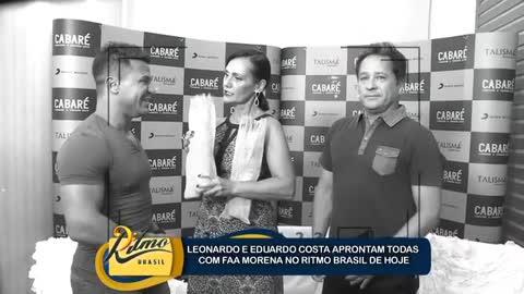 Faa Morena conversa com Leonardo e Eduardo Costa