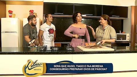 Faa Morena leva Hugo e Tiago aos prazeres do chocolate
