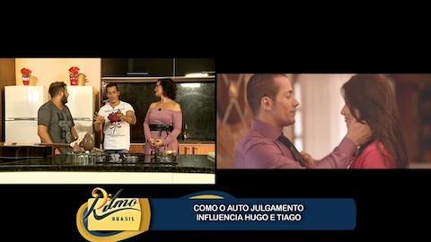 Hugo e Tiago falam da escolha de g�meas de clipe musical