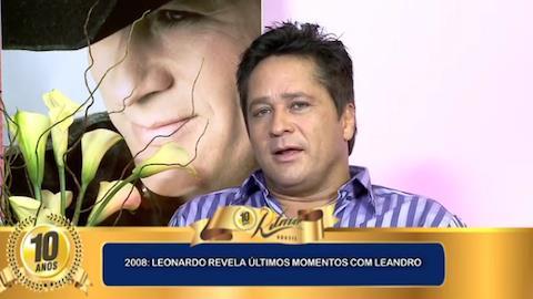 Leonardo se emociona ao falar de pedido de Leandro pouco antes de falecer