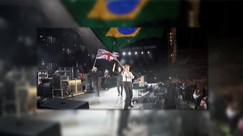 Ivo Mozart fala da invas�o em show de Paul McCartney