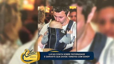Lucas Lima � um pai dedicado e garante que divide tarefas com Sandy