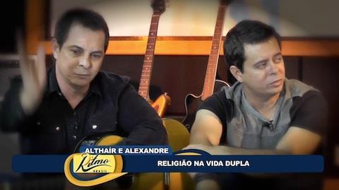 Altha�r e Alexandre contam sobre acidente recente em show