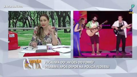 Vocalista do Aviões do Forró desabafa após depoimento na Polícia Federal