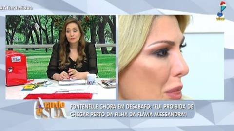 Antonia Fontenelle chora ao falar da filha de Flávia Alessandra