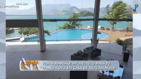 Michel Teló passou o ano novo em mansão de 20 milhões de reais