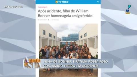 Filhos de William Bonner homenageiam colega ferido em acidente