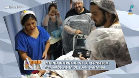 Luan Santana visita fã mirim em hospital e garoto recebe alta