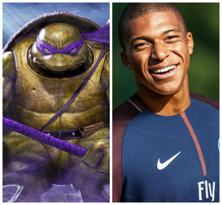 Resultado de imagem para tartaruga ninja mbappe